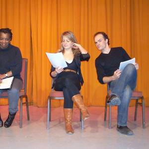 Marcia Johnson, Karen Knox and Jason Jazrawy, at the 2010 Page to Stage readings at Toronto's venerable Arts and Letters Club.