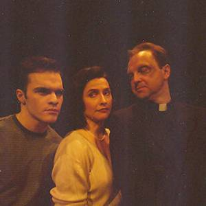 Jason Jazrawy, Gina Wilkinson and Ric Reid in 'Two Ships Passing' at Theatre Aquarius, 1998.