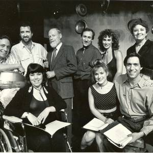 The cast of Writing with our Feet at the Kresge Theatre, Pittsburgh. Normally a two-hander, this production dispensed with the doubling, which made for far livelier cast parties...