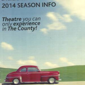 Cover of season brochure of the Festival Players of Prince Edward County. They are producing Test Drive in 2014. The car on this cover is (I believe) a Ford and the play is about American Motors, but never mind. It's a great car and a great theatre company.