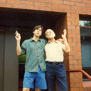 Kevin Black and the late Allen Leatherman from the early 90s Pittsburgh production of 'Writing with our Feet'. No one before or after could smoke with quite the continental elan as Allen.