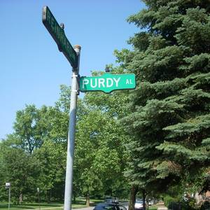 I got real excited as I was walking about the German Village in Columbus, Ohio - and spotted this street sign. Our Canadian poetic treasure, Al Purdy, clearly had a following there and I snapped a bunch of pictures and remarked at the honour to a passing American. And then I walked a bit further down the street and saw an Cherry Al street and began to suspect that Al meant Alley, and we had a bit of evangelism still to do about one of our best poets...