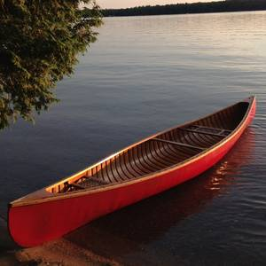 A great shot - she calls it her National Geographic moment - taken by my sister Jan. Sandy Lake, Summer, 2013. It's a canvas-covered cedar strip canoe built in Lakefield in the 1960s, the property of my mother.