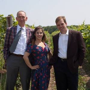 The cast of Test Drive, produced by Festival Players of Prince Edward County at Rosehall Run Vineyards, near Wellington. August 2014.  Left to Right: Douglas Hughes, Alison Smyth and Andrew Perun. Sarah Phillips directed. It was a great show - in a tent, at a winery, in one of the most beautiful parts of Ontario.