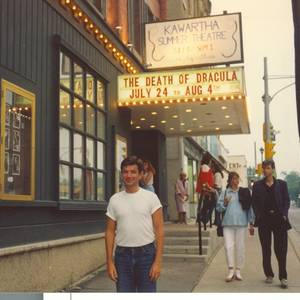 Tony Hamill, just a day or two ago, outside Kawartha Summer Theatre, where he was playing a role in 'The Death of Dracula'.