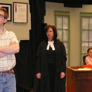 Tom Sinclair, Nancy Hunt and Brent Neely in the Domino Theatre (Kingston) production of 'Two Ships Passing'.