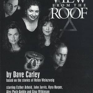 The postcard from 'A View From The Roof'. Once upon a time, before social media, a well-designed postcard was the cornerstone of the successful publicity campaign. Top Row: Alex Poch-Goldin and Esther Arbeid. Below, left to right: GIna Wilkinson, Kyra Harper and John Jarvis.