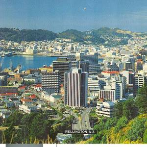 A shot of Wellington, New Zealand, 1980.