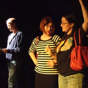 A production shot from 'Lipstick on His Collar', at the Pensacola Arts Centre.